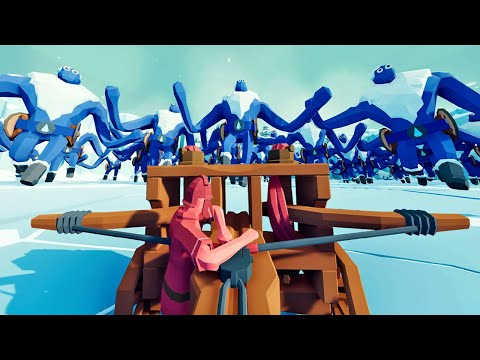 One Brave Man Destroys An Army Of Giants - Totally Accurate Battle Simulator (TABS) Gameplay