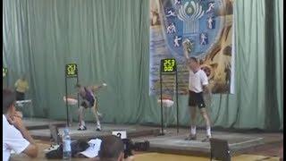 Рывковая дуэль - Меркулин 254 р. против Андрейчука 253 р./ Snatch battle HD
