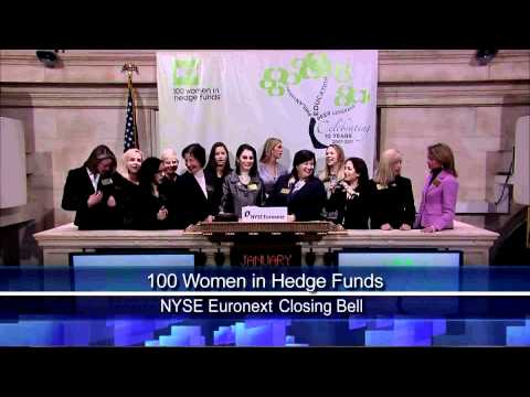 24 Jan 2011 100 Women in Hedge Funds Celebrates 10th Anniversary rang NYSE Closing Bell