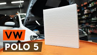How to replace pollen filter / cabin filter on VW POLO 5 Saloon [TUTORIAL AUTODOC]