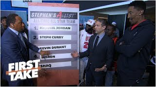 Michael Jordan rounds out Stephen A39s all-time All-Star list l First Take
