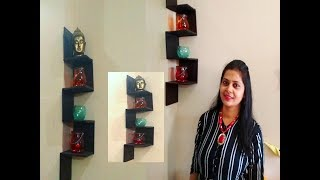 DIY zigzag wall shelf | DIY corner shelf | best out of waste | home decoration | home decor idea