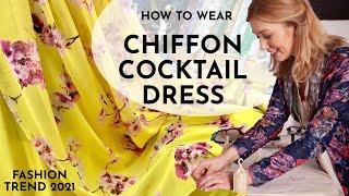 Fashion trend. How to wear CHIFFON cocktail &evening dress. Best cocktail 🍸 bars. Rainbow wedding🌈
