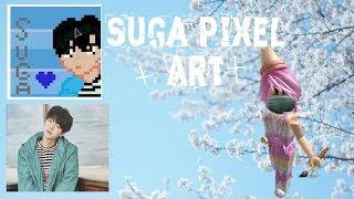 {Roblox} BTS Suga Pixel Art