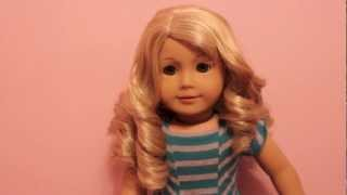 How to Curl Your AG Doll's Hair Without Heat or Rollers