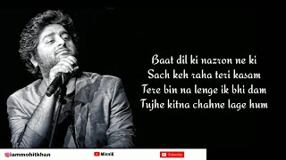 Tujhe Kitna Chahne Lage Hum Full Song With Lyrics Arijit Singh | Kabir Singh | Mithoon | Shahid K
