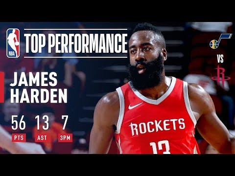 Thumbnail: James Harden Scores A CAREER HIGH 56 Points and 13 Assists vs. The Jazz | EVERY BASKET