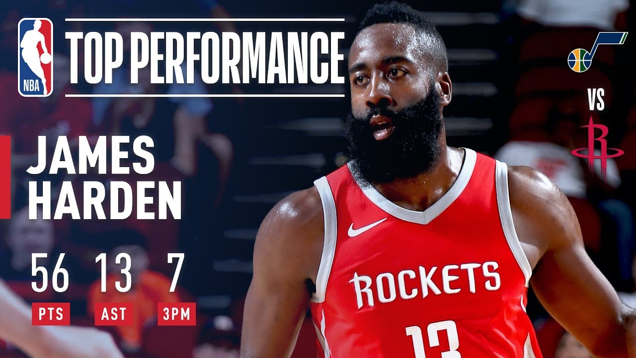 James Harden Scores A CAREER HIGH 56 Points And 13 Assists