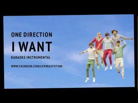 One Direction - I Want (Karaoke Instrumental) NO BACKING VOCALS