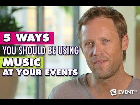 5 Ways You Should Be Using Music At Your Events