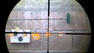 cometa lynx v10 .22 air rifle shooting steel target at 30m part1