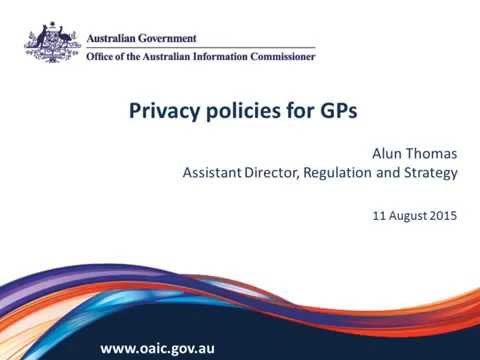 Privacy policies for GPs