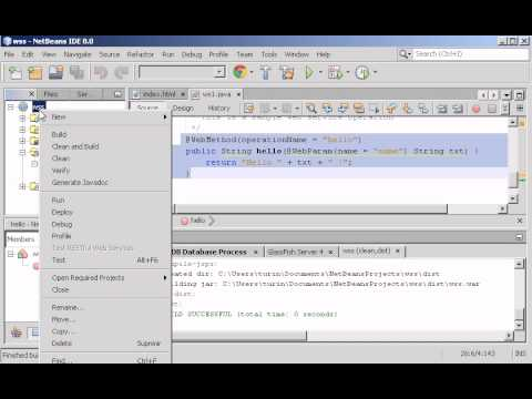 Tutorial Creation of Web services Netbeans + SOAPUI