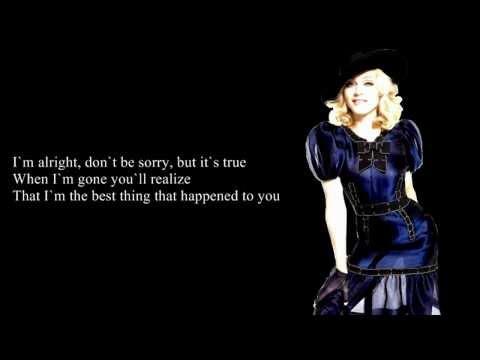 Madonna - Miles Away (Lyrics On Screen)