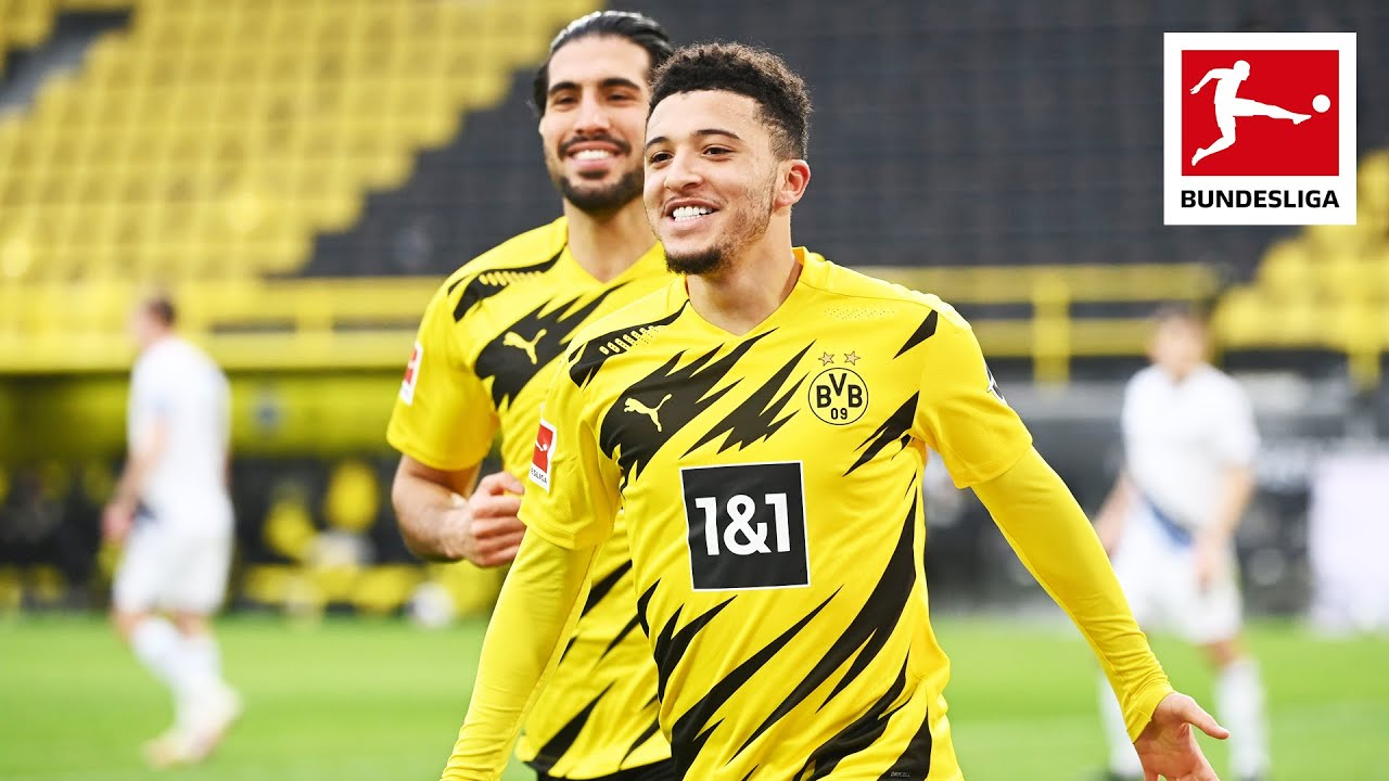 Jadon Sancho's Star Performance With Goal & Assist In Borussia Dortmund Win!