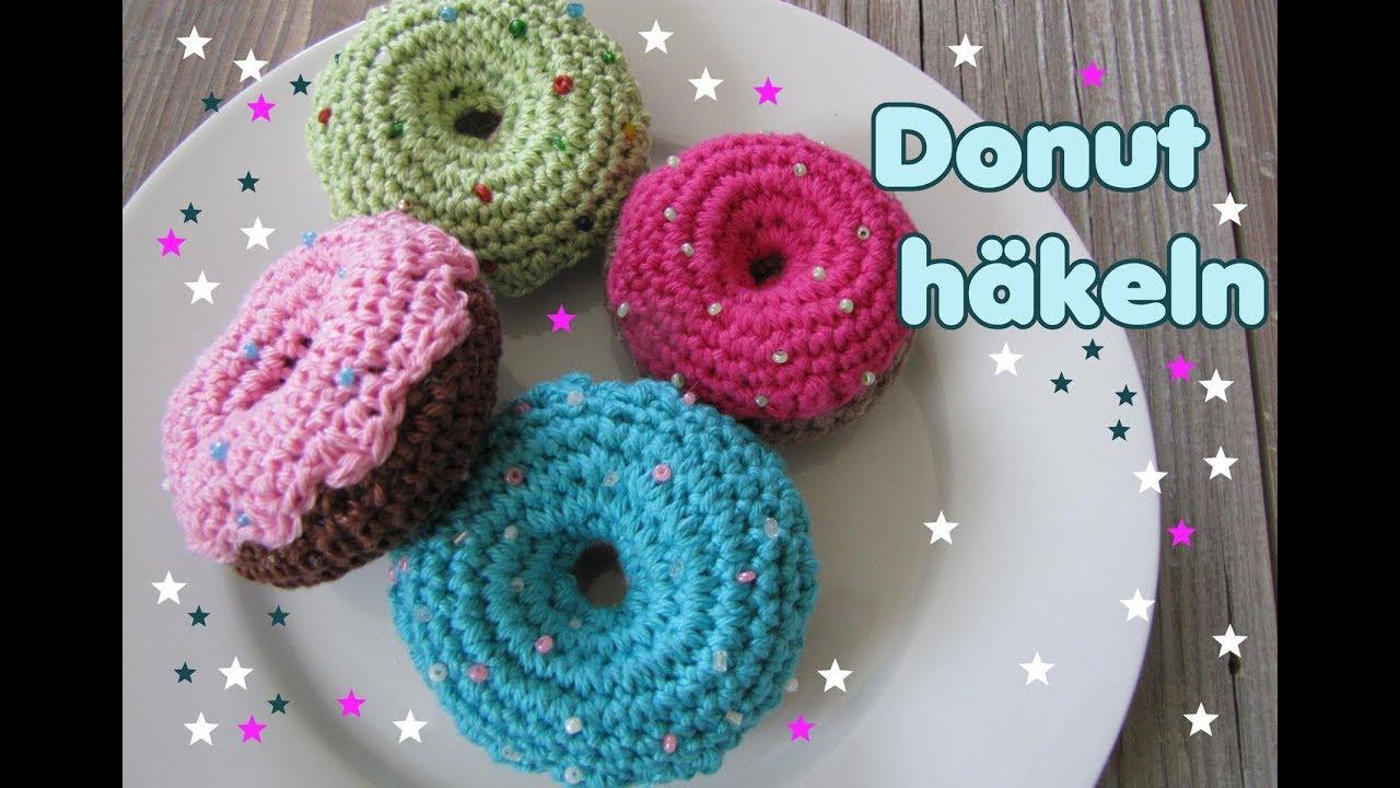 Donuts häkeln, Häkelanleitung für Anfänger - YouTube