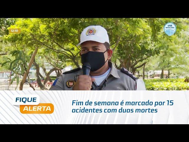 Balanço do BPRv: Fim de semana é marcado por 15 acidentes com duas mortes