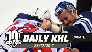 Daily KHL Update - December 25th, 2017 (English)