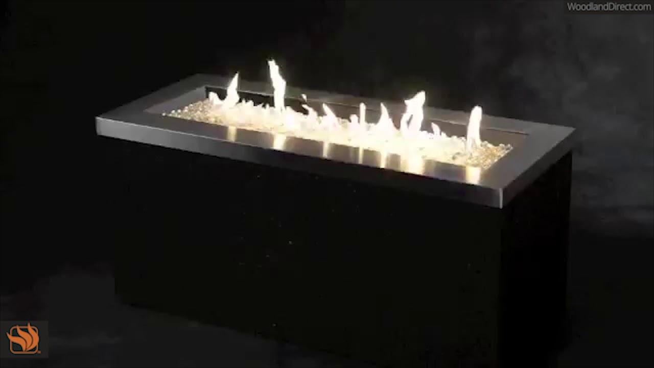 Key Largo Linear Gas Fire Pit. Woodland Direct Inc - Key Largo Linear Gas Fire Pit - YouTube