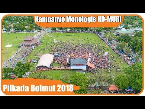Kampanye Monologis Hamdan-Muri (HD-MURI) Di Lapangan Kembar Boroko | Pilkada Bolmut 2018 - 4K
