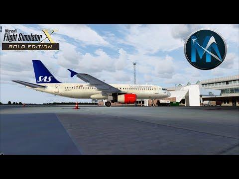 FSX - VOO DE STOCKHOLM PARA OSLO (ARN-OSL) - AIRBUS A320-200 SAS - NA IVAO