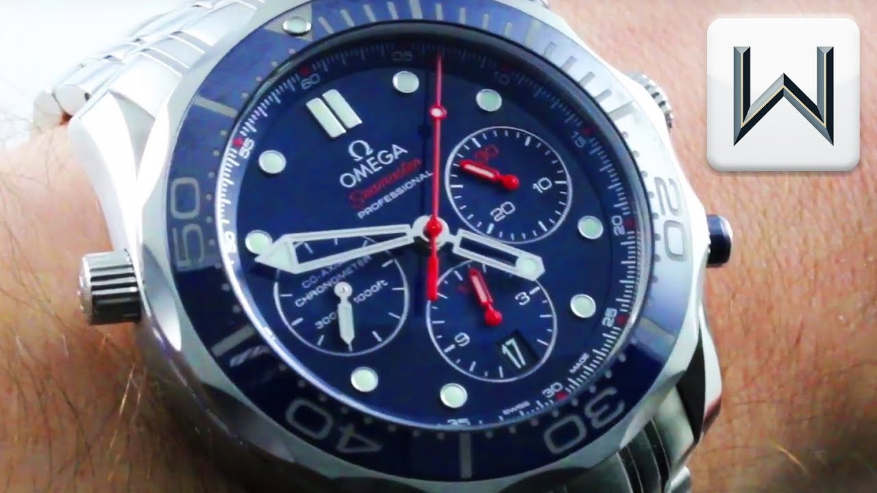 009bd79ea Omega Seamaster Diver 300M Chronograph BLUE (212.30.44.50.03.001) Luxury  Watch Review