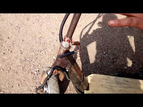 Электро самокат из гироскутера')