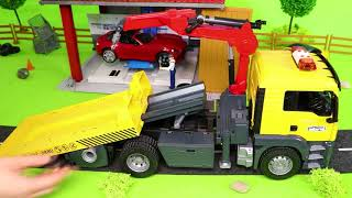 Tractor, Fire Truck, Excavator, Police Cars, Trains & Trucks Construction Toy Vehicles for Kids