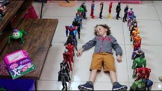 Mostrando toda minha coleção de bonecos Avengers e Liga da Justiça