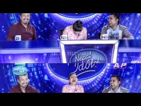 NEPAL IDOL Eposide -7   KP oli and Puspa Kamal Dahal singing in Nepal Idol  