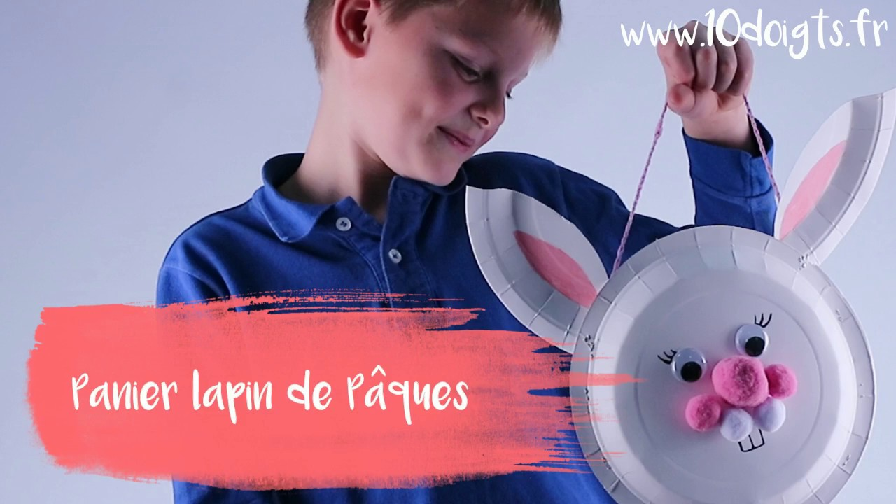 diy bricolage p ques fabriquer un panier lapin avec des assiettes en carton youtube. Black Bedroom Furniture Sets. Home Design Ideas