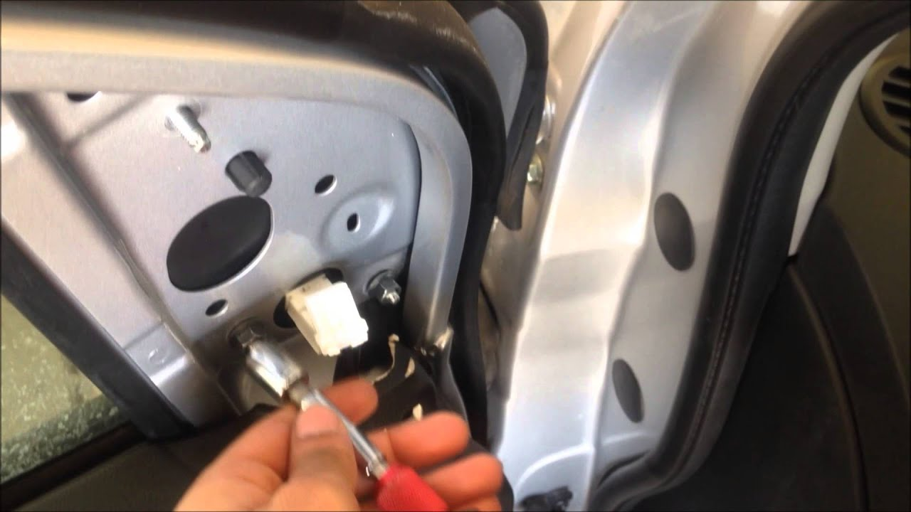 How To Replace Left Rear View Mirror On 2012 Sentra Youtube