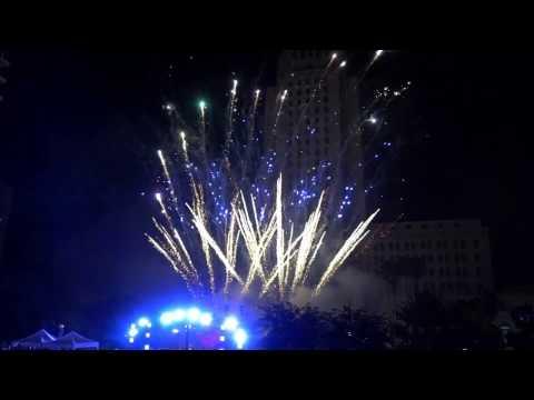 New year 2017 LA Grand Park  #NYELA
