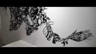 Cloud Leopard (2012) Paper Cut Art -- Official Video -- Nahoko Kojima