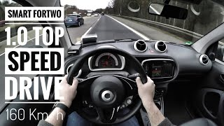 Smart Fortwo 1.0 (2018) | POV Drive on German Autobahn - Top Speed Drive (60fps)