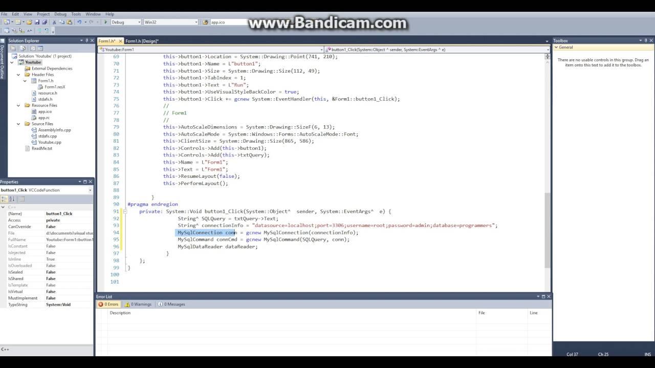 Visual C++ 6 Database Programming Tutorial