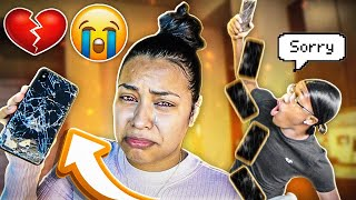 DESTROYING CARMEN'S OLD IPHONE & SURPRISING HER WITH NEW IPHONE 11 PRO MAX!! | CUTE REACTION