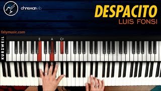 Como tocar DESPACITO en Piano Luis Fonsi ft Daddy Yankee | Tutorial | Notas Musicales | Cover