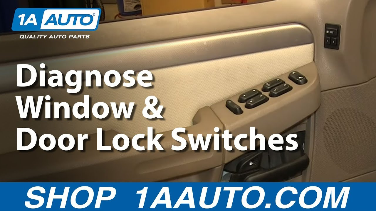 How To Diagnose Broken Window Door Locks Memory Functions Switches