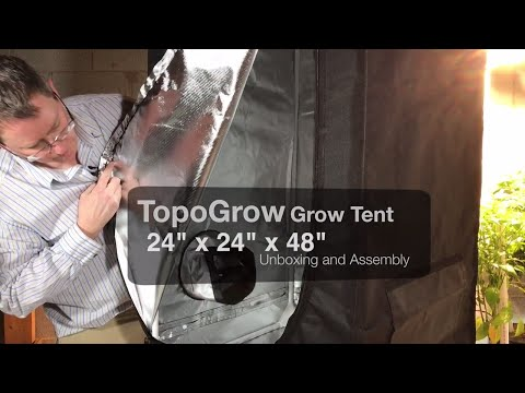 TopoGrow Grow Tent – 24″x24″x48″ Unboxing and Assembly