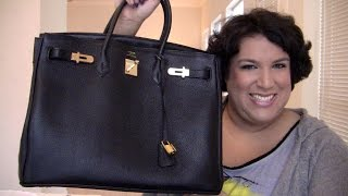 WHAT'S IN MY PURSE? - BLACK LEATHER HERMES BIRKIN Thumbnail