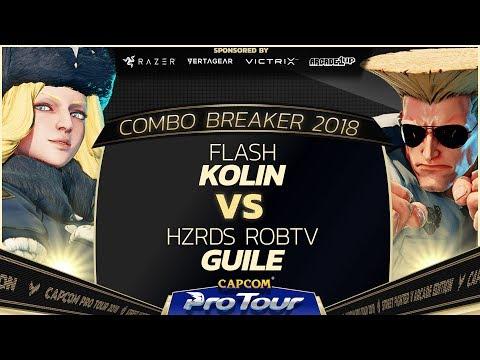 Flash (Kolin) vs HZRDS RobTV (Guile) - Combo Breaker 2018 Pools - Day 1 - CPT 2018