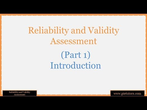 reliability and validity assessment Describes the essential components of reliability and validity of the assessment methods with special emphasis on medical education.