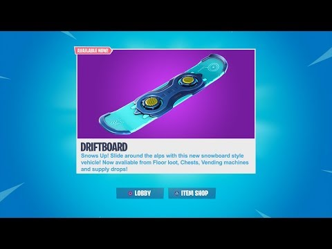 NEW DRIFTBOARD GAMEPLAY! CUSTOM MATCHMAKING WITH SUBS! FORTNITE NEW DRIFTBOARD UPDATE!
