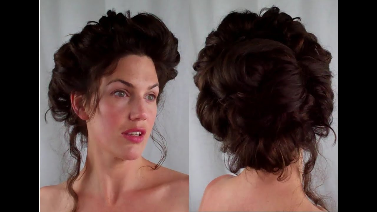 how to gibson girl hair edwardian/ victorian vintage retro hairstyle