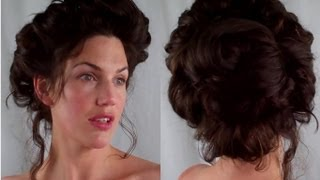 How to  GIBSON girl Hair  EDWARDIAN/ VICTORIAN vintage RETRO Hairstyle tutorial - Vintagious