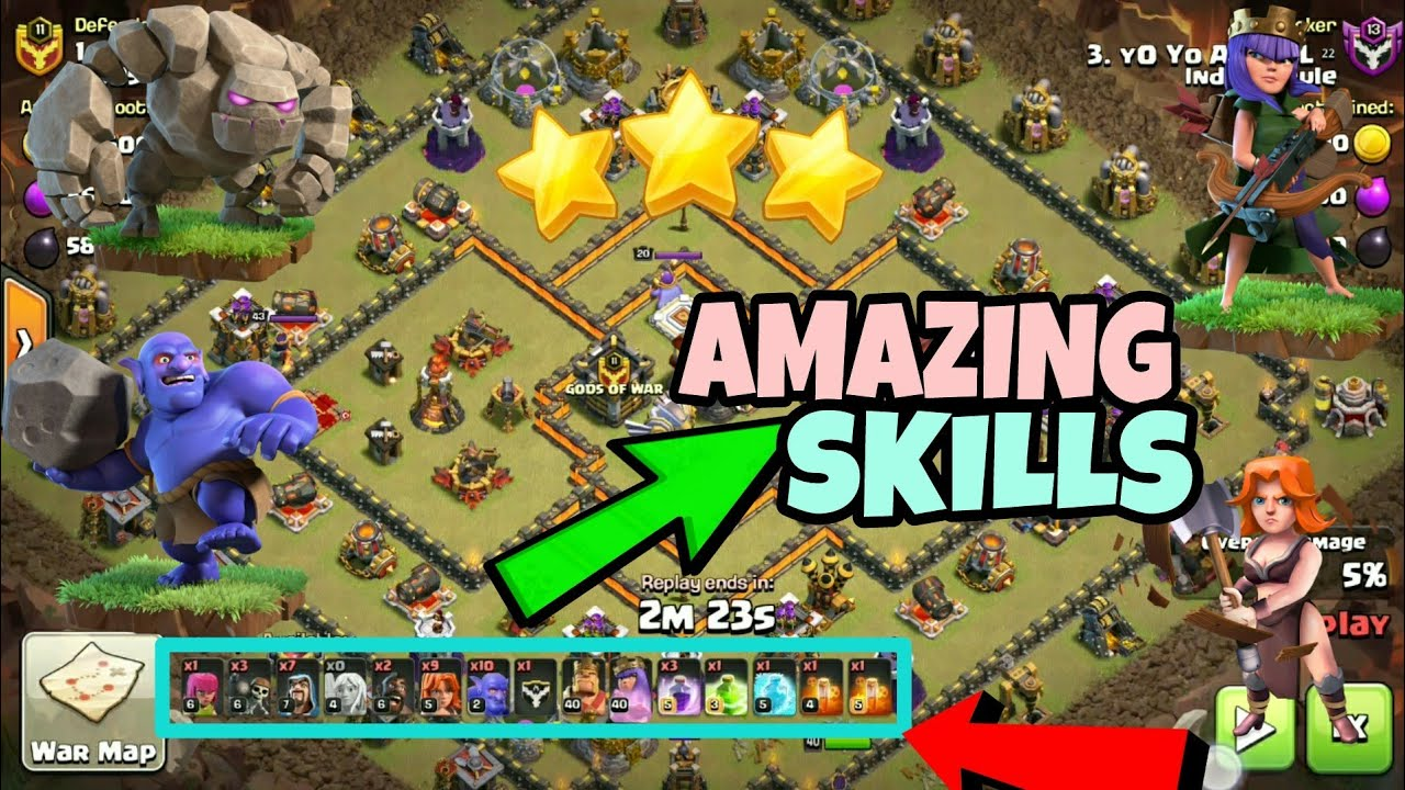 Best Th10 Attack Strategy 2020 Best th10 vs th11 War Attack Strategy | Aqwalk+Govabo   Clash of