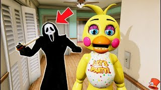 GHOST GUY IS IN MY HOUSE! (GTA 5 Mods For Kids FNAF RedHatter)