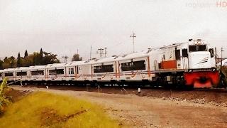 Kereta Api Keluar Masuk Stasiun Purwokerto Kelas Eksekutif BisnisEkonomi
