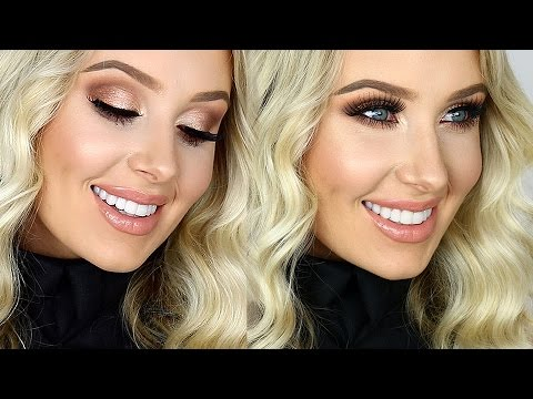 FULL GLAM: Cream Contour/Highlight, Sultry Eyes, Glossy Lips!   Lauren Curtis